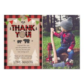 Birthday Lumberjack Thank You Card Lumberjack