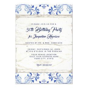 Birthday Party Farmhouse Watercolor Wood Rustic Invitation
