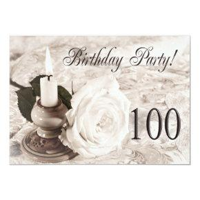 Birthday Party Invitation 100 Years Old