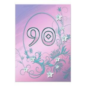 Birthday Party Invitations 90 Years Old
