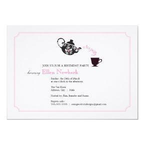 Birthday Party Invitation - Tea