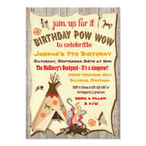 Birthday Party Pow Wow Teepee