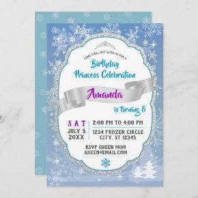 Birthday Princess Wonderland Invitation