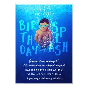 'Birthday Splash' Pool Party Invitations
