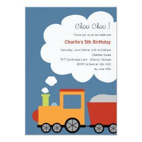 Birthday Train Party Invitations