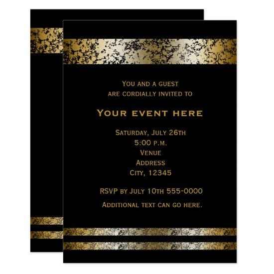 black gold faux marble elegant event invitations candied clouds