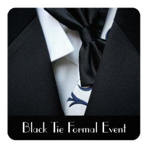 Black Tie Formal Event Party Invitations