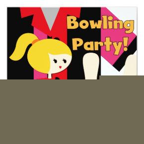 Blond Girl Bowling Party