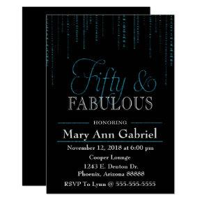Fifty And Fabulous Birthday Invitations Candied Clouds