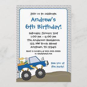 Blue Monster Truck Birthday