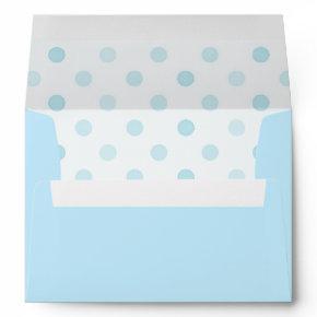 Blue Polka Dot Envelope A7
