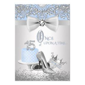 Blue Silver Quinceanera Princess