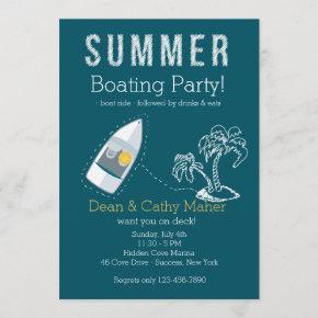 Boat Ride Invitation Customized