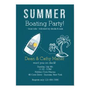 Boat Ride Invitation Customized