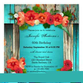 Bohemian Chic Adult Birthday Party Invitation