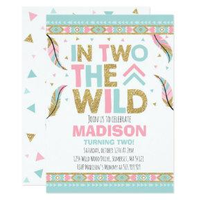 Boho 2nd Birthday Invitations In Two The Wild Party