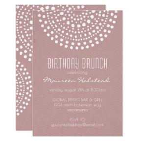 Boho Bali Birthday Brunch on Rose Invitations