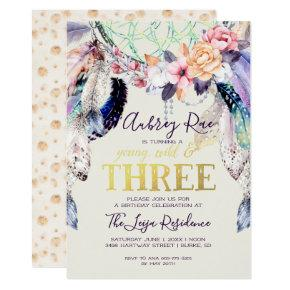 Boho Dreamcatcher | Young Wild & Three Invitation