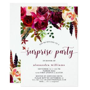 Boho Floral | Surprise Party Invitations