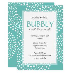 Boho Mosaic Tribal Birthday Aqua Invitation