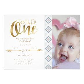 Boho Wild One   First Birthday Party Invite