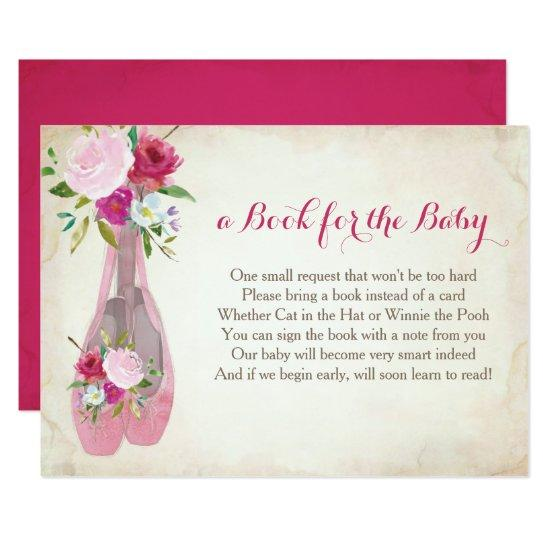 Book For The Baby, Pink Ballet Insert Card