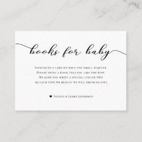 Books for Baby Shower Enclosure  Black White