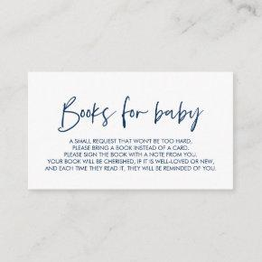 Books for the baby, Modern Minimal Navy Blue Enclosure