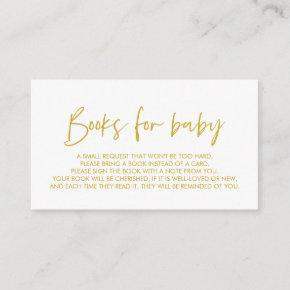 Books for the baby, Modern Minimal Yellow Gold Enclosure