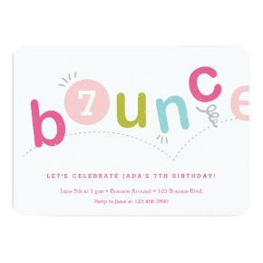Bounce birthday party Invitations with age