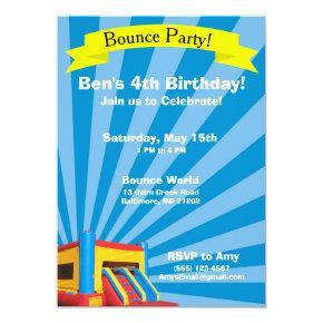 Bounce Party Birthday Invitations