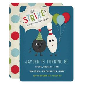 Bowling Birthday Invitation | Bowling Invite