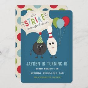 Bowling Birthday Invitation   Bowling Invite