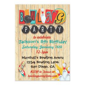 Bowling Party Invitation