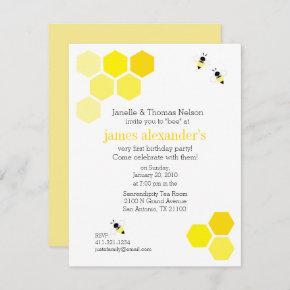 boy or girl ANY AGE bee BIRTHDAY PARTY Invitation