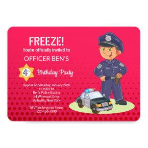 Boy Policeman Birthday Party