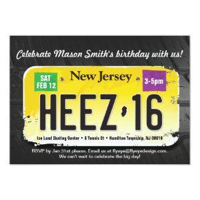 Boy's 16th Birthday New Jersey License Invitation