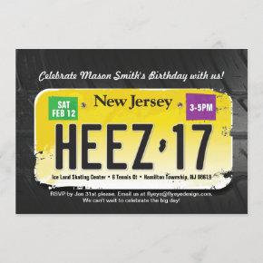 Boy's 17th Birthday New Jersey License Invitation