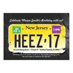 Boy's 17th Birthday New Jersey License Invitation