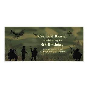 Boy's Army Birthday Invitation
