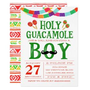 Boy's Baby Shower Fiesta Card