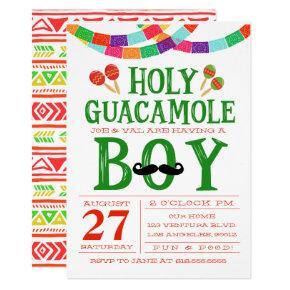 Boy's Baby Shower Fiesta Invitation