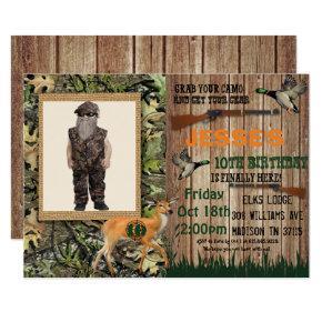 Boys Deer Hunting Birthday Invitation
