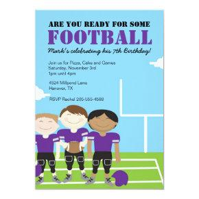 Boys Football Themed Birthday Party Invitations Candied Clouds