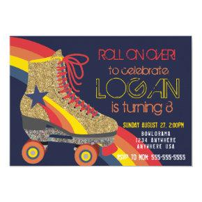 Boys Roller Skating Party, skate, roller disco Invitations