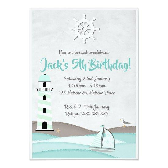 boys sail invitations boat birthday party invite candied clouds