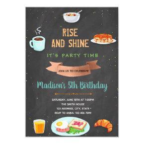 Breakfast birthday party invitation
