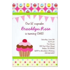 Bright Cupcake  - First Birthday Party