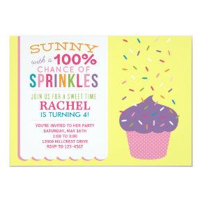 Bright Cupcake Sprinkles Birthday