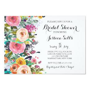 Bright Floral Bridal shower Invitation